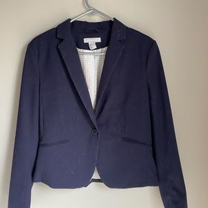 2 for $25 - H&M navy blue classic cut blazer